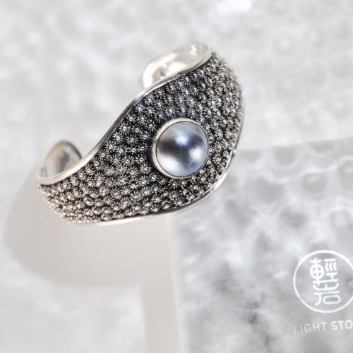 Flower Land - Tibetan Handmade Silver Bracelet