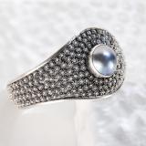 Chinese Handmade Bracelet - Flower Land - Tibetan Silver Bracelet | LIGHT STONE