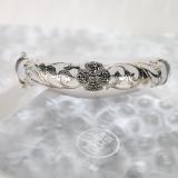 Chinese Artisan Jewelry -Lucky Clover - White Chalcedony Mosaic Bracelet| LIGHT STONE