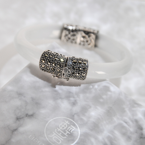 Simple Mosaic -Chalcedony Bracelet