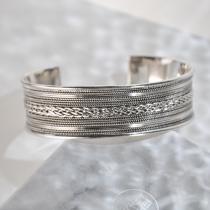 Wheat - Tibetan Handmade Silver Bracelet