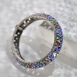 Chinese Artisan Jewelry - Passion Heart - Enameling Tibetan Handmade Silver Bracelet | LIGHT STONE