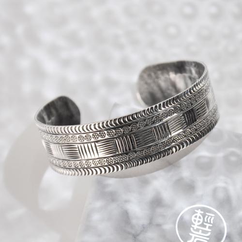 Flower Belt - Tibetan Handmade Silver Bracelet