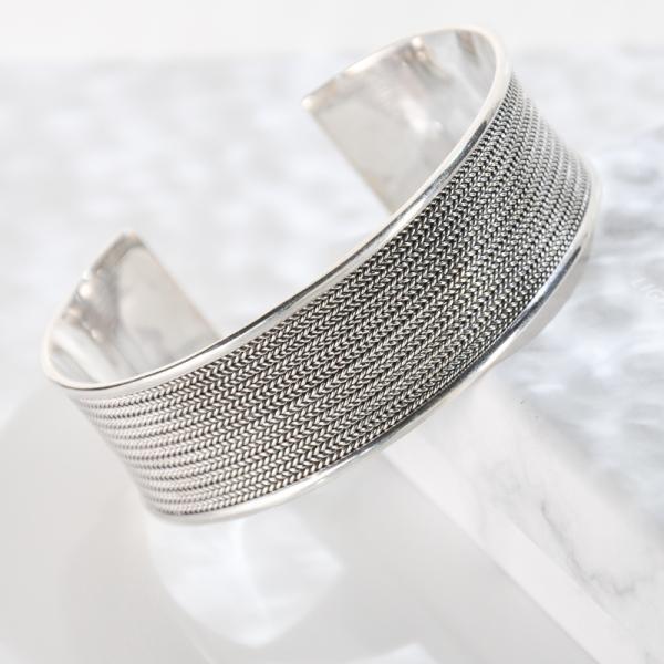 Wave - Tibetan Handmade Silver Bracelet