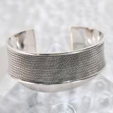 Chinese Artisan Jewelry - Wave - Tibetan Handmade Silver Bracelet | LIGHT STONE