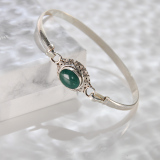 Chinese Handmade Jewelry- Online Shop-Turquoise Tibetan Silver Bracelet| LIGHT STONE
