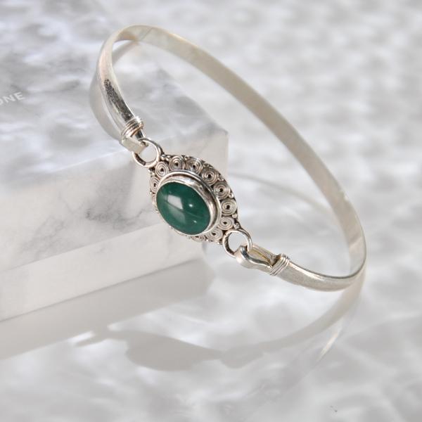 Flower - Turquoise Handmade Tibetan Silver Bracelet