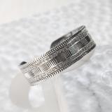 Chinese Artisan Jewelry - Flower Belt - Tibetan Handmade Silver Bracelet| LIGHT STONE