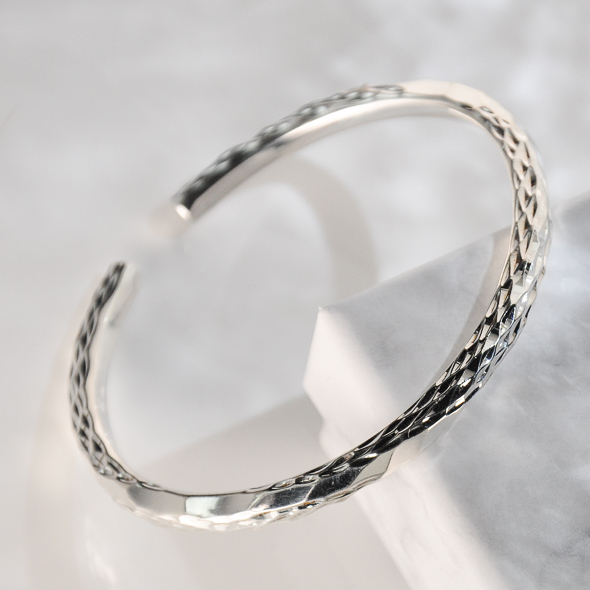 Rain - Yunnan Fine Silver Bracelet - Sky Collection