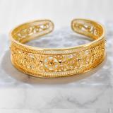 Online Shop - Chinese Handmade Bracelet- Royal Silver Filigree | Light Stone