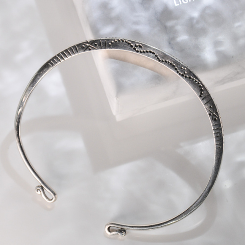 Wind Blows- Yunnan Fine Silver Bracelet - Sky Collection