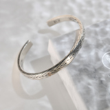 Online Shop - Chinese Yunnan Fine Silver Bracelet - Wheat | LIGHT STONE