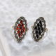 Mosaic Diamond-shaped - Chalcedony Silver Ring