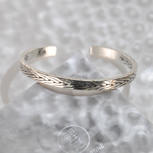 Wheat - Yunnan Fine Silver Bracelet - Forest Collection