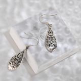 Water Drop - Vintage Silver Earrings