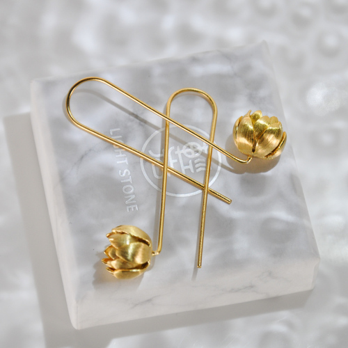 Lotus - Gilt Silver Earrings