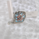Chinese Artisan Jewelry - Lotus - Cloisonne Silver Brooch | LIGHT STONE