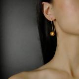 Lotus - Gilt Silver Earrings - Chinese Handmade Jewelry Online Shop | LIGHT STONE