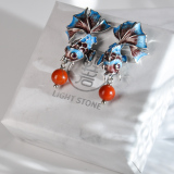 Chinese Handmade Earrings -Cloisonne Pearl Goldfish Earring| LIGHT STONE