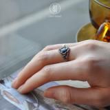 Peony of Fan - Cloisonne Silver Ring