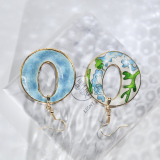World Under Water - Wave- Vintage Jingtai Blue Cloisonne Earrings