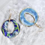World Under Water - Deep Blue - Vintage Jingtai Blue Cloisonne Earrings