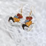 Butterfly - Vintage Jingtai Blue Cloisonne Earrings