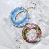 World Under Water - Red - Vintage Jingtai Blue Cloisonne Earrings