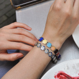 -25% For Two| -33% For Three |Square- Jingtai Blue Vintage Bracelet - Gold - Cooper Base Cloisonne