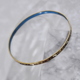 -25% For Two| -33% For Three | Jingtai Blue Vintage Bangle - Middle Size - Cooper Base Cloisonne