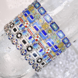 -25% For Two| -33% For Three | Rectangle- Jingtai Blue Vintage Bracelet - Gold - Cooper Base Cloisonne