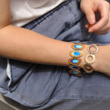 -25% For Two| -33% For Three | Round - Jingtai Blue Vintage Bracelet - Gold - Cooper Base Cloisonne