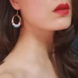 Hills - Blue- Vintage Jingtai Blue Cloisonne Earrings