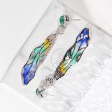 Dragonfly Wings - Enamelling Silver Earrings