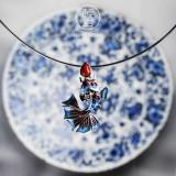 Goldfish -  Cloisonne 925 Silver Necklace