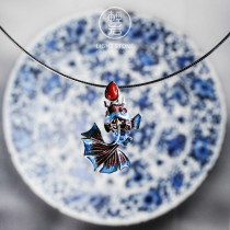 Goldfish -  Cloisonne 925 Silver Necklace