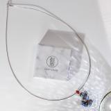 Chinese Handmade Necklace -Cloisonne  Goldfish 925 Silver Necklace | LIGHT STONE