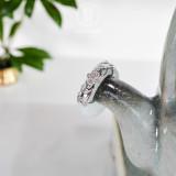 Lucky Clover - Mosaic - Green Jade 925 Silver Ring