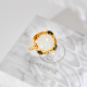 Colorful Life - White Hetian Jade&Tourmaline 925 Silver Ring - Size Ajustable