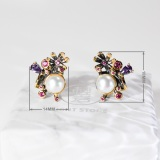 Moon - 925 Silver Pearl Earrings
