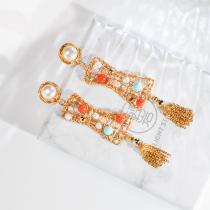 Guangzhou Tower - 925 Silver & Gold Gilt Pearl Earrings