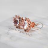 Star - Moonstone 925 Silver Ring