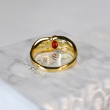 Online Rings - Vintage Royal - Red Coral 925 Silver Ring - Asian Gift | LIGHT STONE