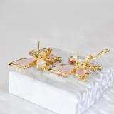 Crystal Butterfly - 925 Silver Crystal Ear Stud