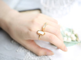 Day Dream - Elegant - Mother of Pearl -  925 Silver Ring
