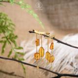 Raining Season - Amber Earrings - 925 Silver