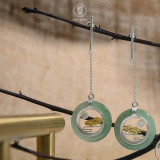 Online Earrings Shop - Clouds and Moon - 925 Silver - Special Gift | Light Stone