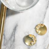 Gold Plum Blossom - 925 Silver Earrings