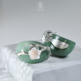Online Earrings Shop - Plum blossom - 925 Silver - Special Gift | Light Stone