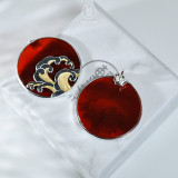 Online Earring Shop - Special Gift - Wave - Red Agate Earrings | Light Stone